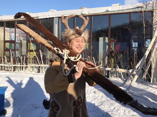 极具民族风情的鄂伦春部落滑雪场
