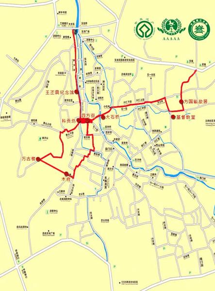 古城建筑路线图