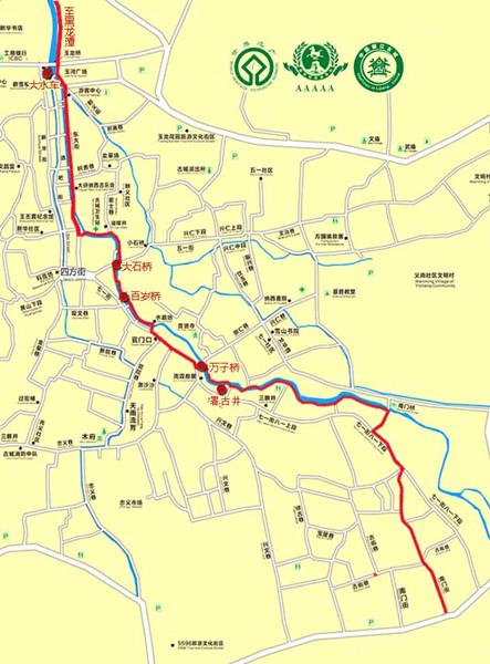 古城水文化路线图