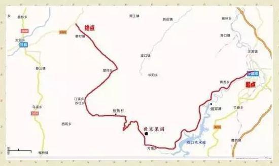 皖南川藏线路图