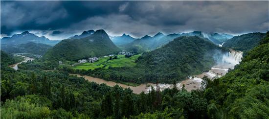 九龙瀑布群全景/摄影:袁国林