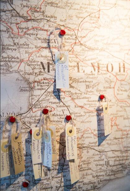 Vollmers餐厅标注食材产地的地图 图片来源:Felicity Millward