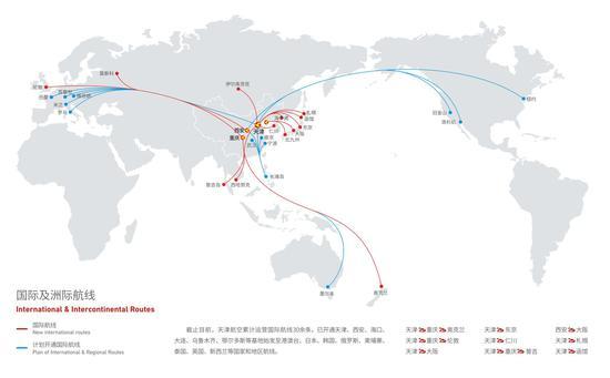 全球飞机航线图