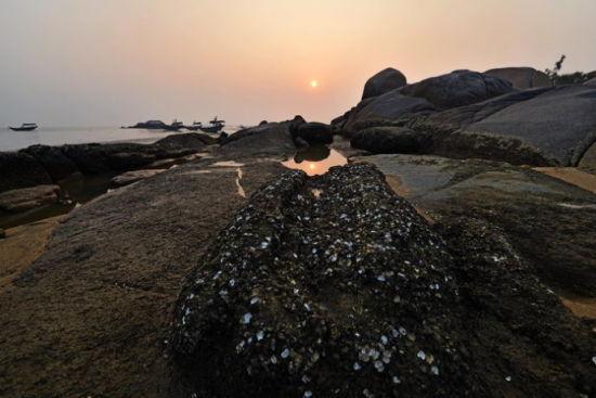三娘湾的落日