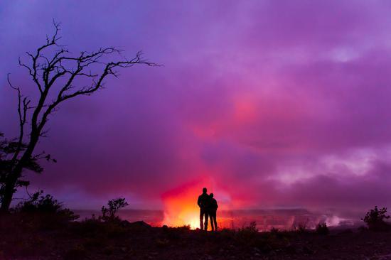 夏威夷大岛哈雷茂茂火山口