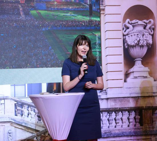 维也纳旅游局媒体关系经理Verena Hable女士发表讲话 来源:维也纳旅游局