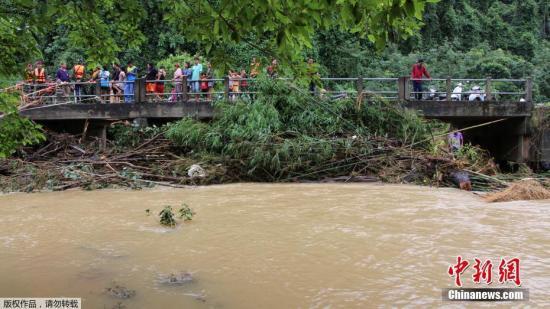 资料图:泰国南部暴雨水灾。