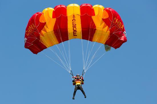 高空定点跳伞