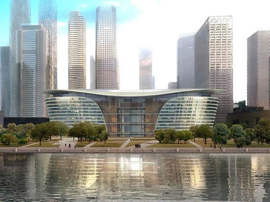 设计风格独特,尽享奢华,秉承绿色建筑理念,是天津中心商务区于家堡图片