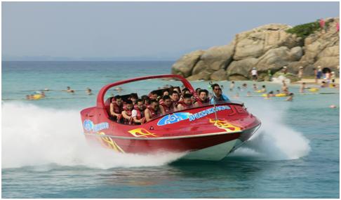 蜈支洲岛动感飞艇项目