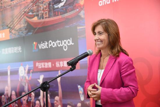 葡萄牙旅游部副部长Ana Mendes Godinho发表讲话