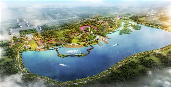 水库旁景观设计