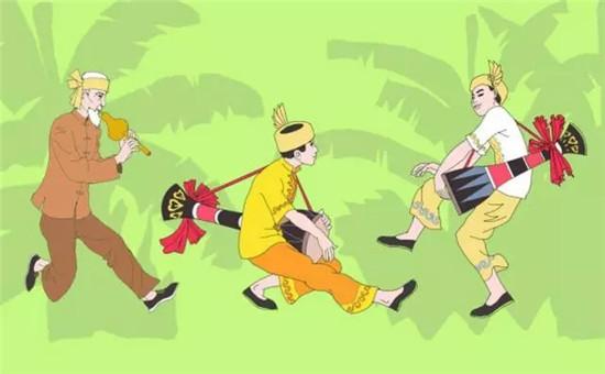 傣族女孩卡通图片