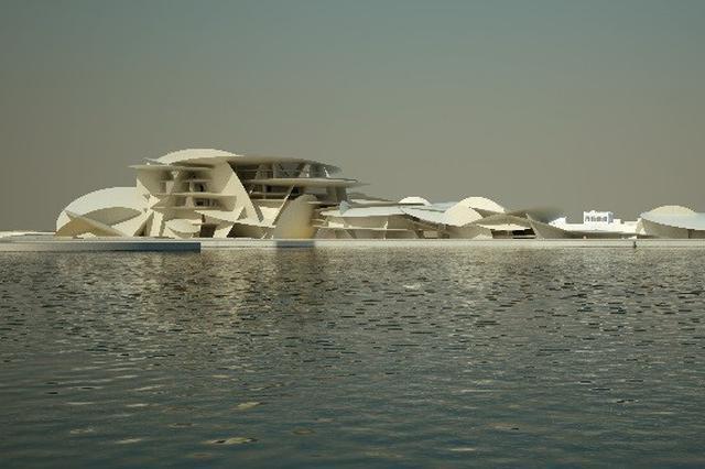 卡塔尔国家博物馆正式对公众开放 中东文化新地标亮相世界
