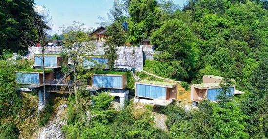湘西十八洞村 地球仓悬崖生态酒店
