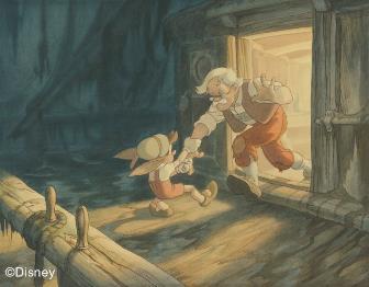 《木偶奇遇记》概念图, 1940, Gustaf Tenggren © Disney