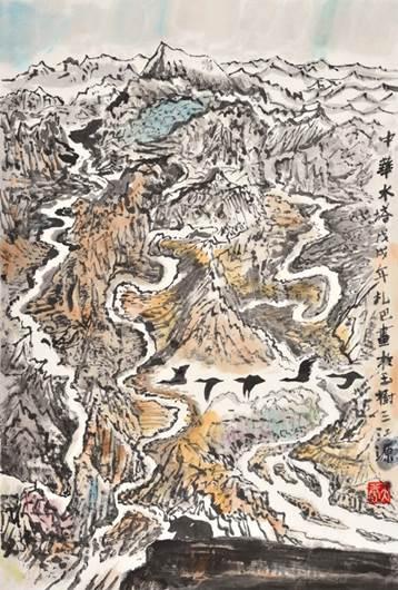(中国画 中华水塔 扎巴 六年级)