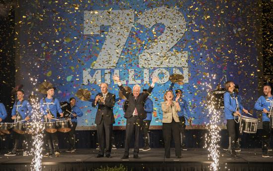 庆祝奥兰多旅游局在2017年迎来突破性的7200万游客