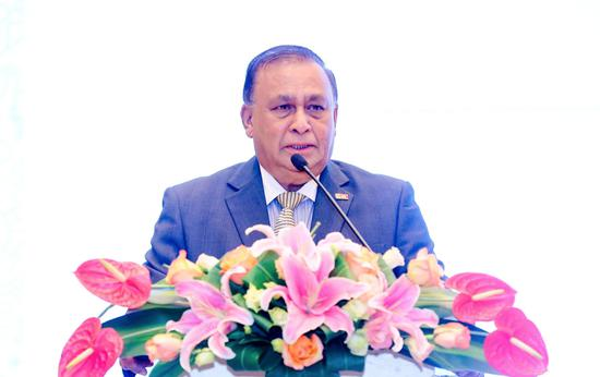 斯里兰卡驻华大使卡鲁纳塞纳・科迪图瓦库博士发表讲话 来源:斯里兰卡旅游推广局