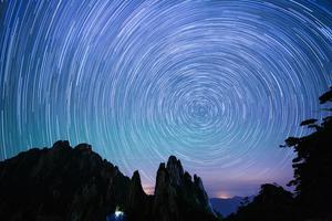 追逐三清山的星空银河
