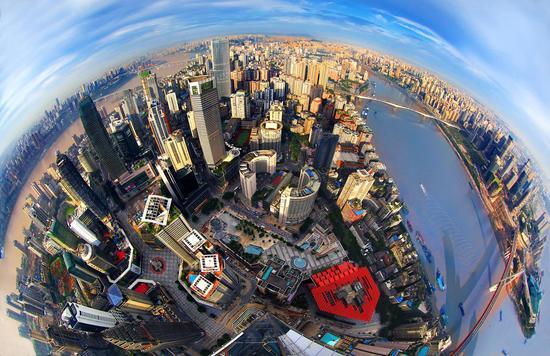 重庆网红地标WFC窗外的美景 摄影/王正坤