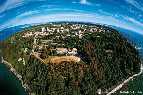 不列颠哥伦比亚大学:校园一隅