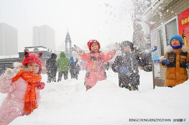 三月一场大雪降临哈尔滨