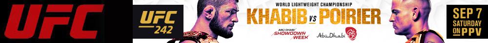 2019年9月8日UFC 242期 – 对阵[视频] Khabib vs. Poirier