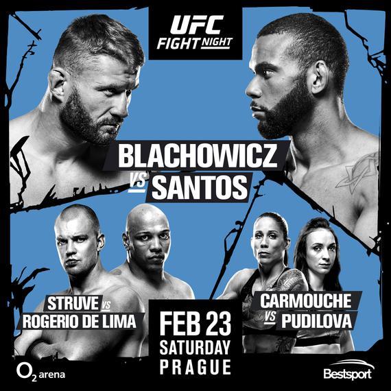 UFC格斗之夜145前瞻:捷克首秀布拉乔维奇战桑托斯