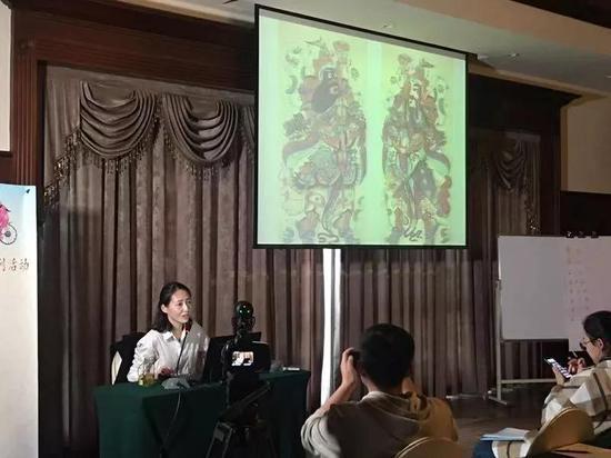 中国美术馆副研究馆员刘莹为学员授课