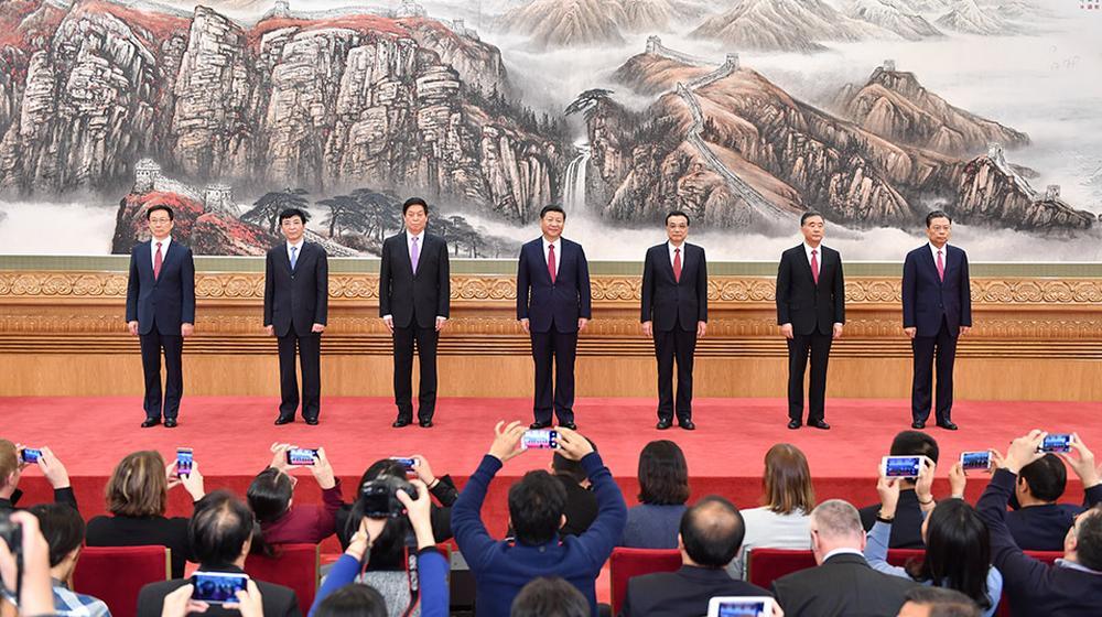 回顾:十九届中央政治局常委中外记者见面会