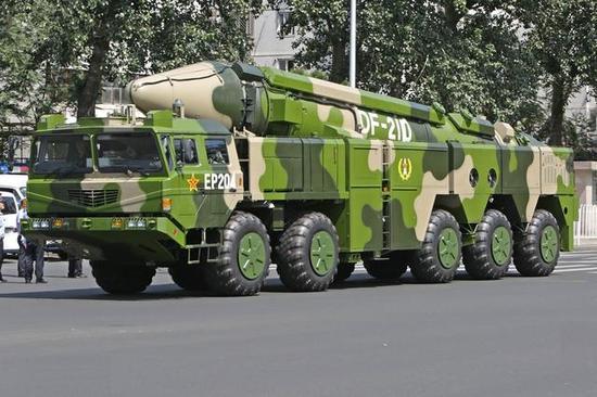 日媒:中国两枚反舰弹道导弹试验中同时命中移动靶