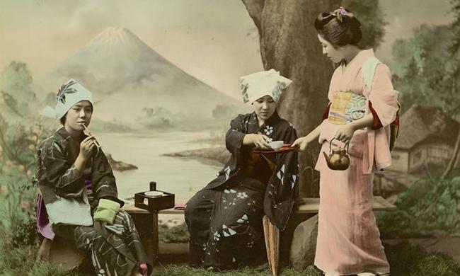 老照片:1870年的日本女人