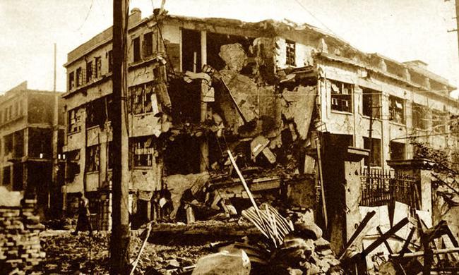 日軍鏡頭下,淞滬會戰時期的上海