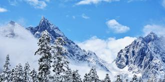 毕棚沟偶遇第一场雪