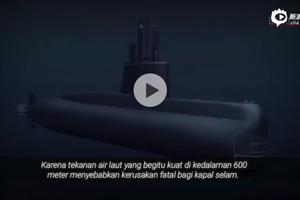 """动画模拟阿根廷海军""""圣胡安""""号潜艇沉没时的场景"""