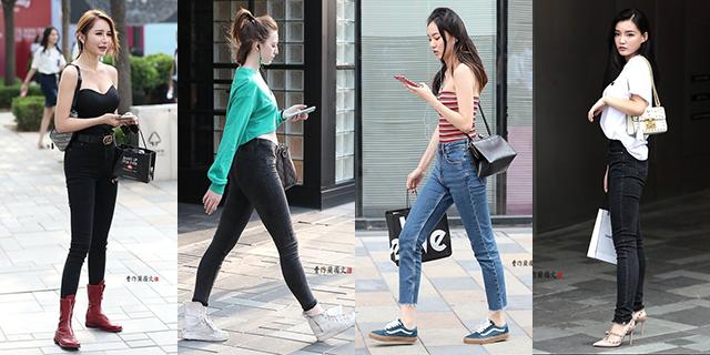 勾画好身材曲线的牛仔裤美女