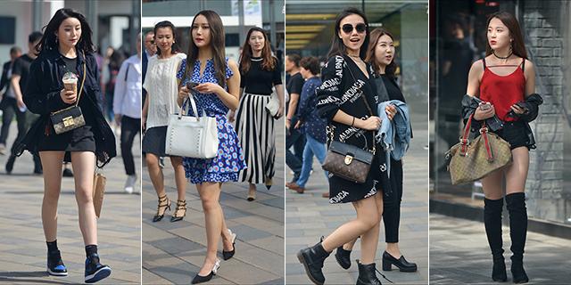 北京美女短裙短裤秀美腿