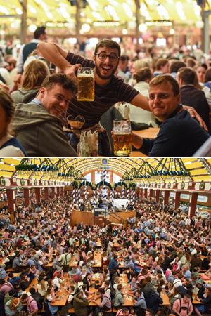 慕尼黑啤酒节狂欢现场