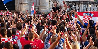 世界杯决赛前夕的克罗地亚