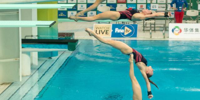 我镜头里的跳水运动员