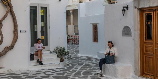 爱琴海像迷宫一样的街道