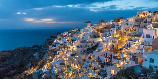 灯火璀璨的爱琴海太美了!