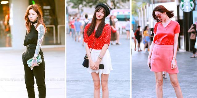 街拍:穿衣清凉时尚的美女