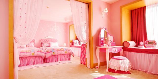 少女心爆棚的粉红芭比屋