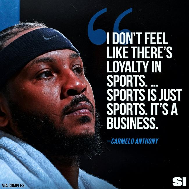 甜瓜:體育世界沒有忠誠可言 它就是一門生意