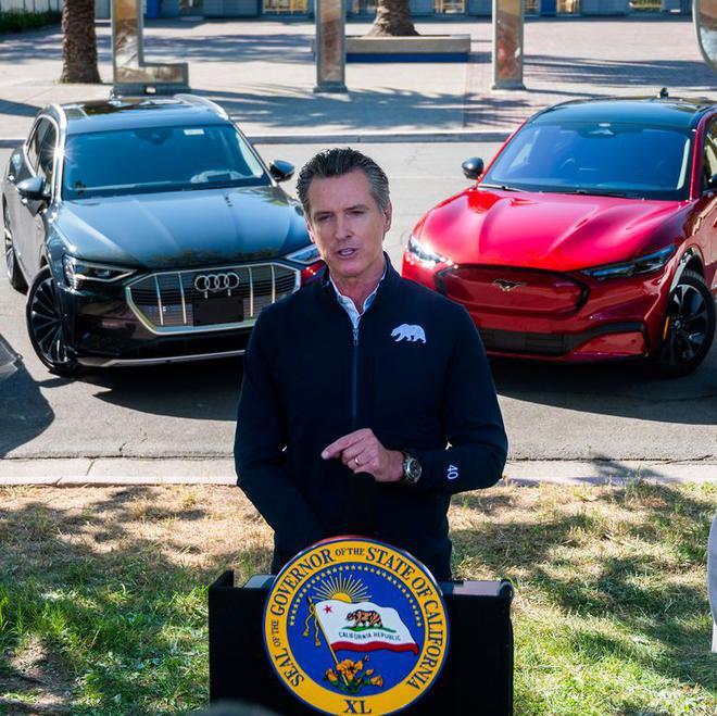 加州梦想迎接一个纯EV的未来,拟在2035年禁售新油动车