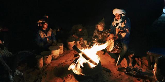 神秘撒哈拉,在大漠深处的一夜
