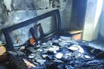 新吴区一空置房突起火 家具付之一炬