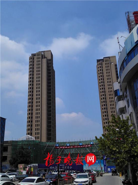 """曾经的无锡""""地王""""——县前三号,历经破产重整后迎来""""新生"""" 张建波 摄"""